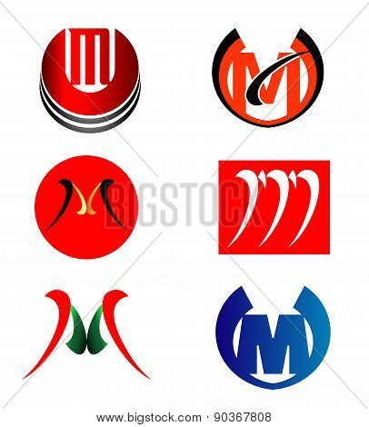 Set of Letter M logo