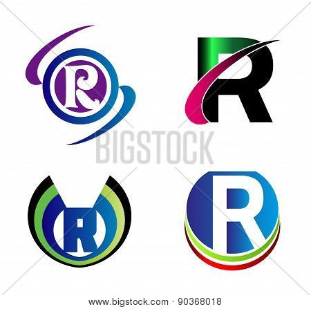 Set Of Alphabet Symbols And Elements Of Letter R, such a logo