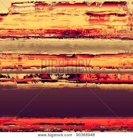 Grunge stained texture, distressed background with space for text or image. With different color patterns: yellow (beige); gray; purple (violet); red (orange)