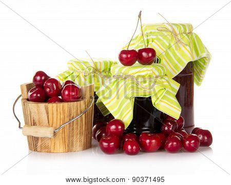 Jam and cherries
