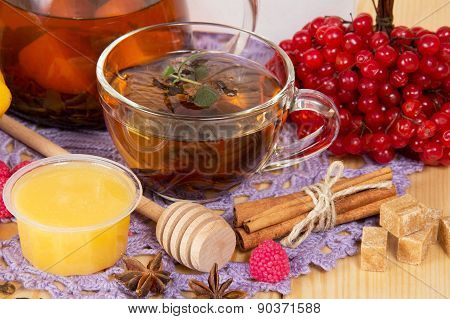 Tea and various components