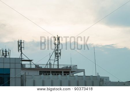 Internet Repeater Antenna On Building