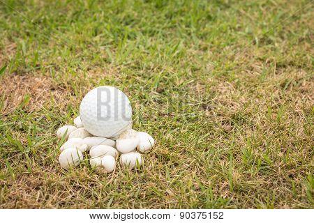 Golf Ball On Mini Stone