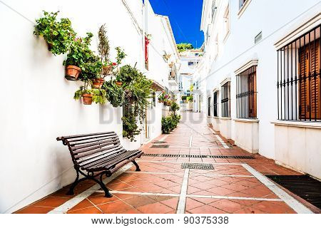 Picturesque Narrow Street Of Rancho Domingo