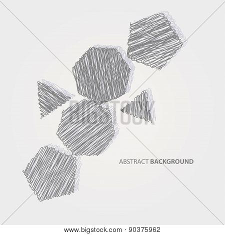 Painted geometric shapes cast shadows