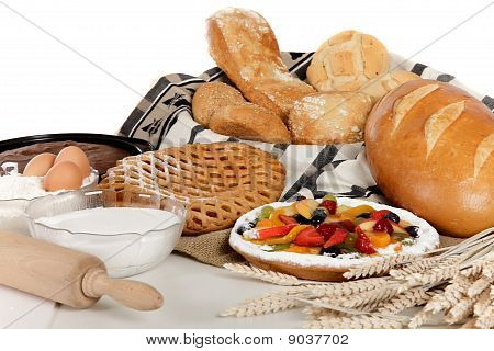 Type Of Bread, Fruits Pie, Ingredients