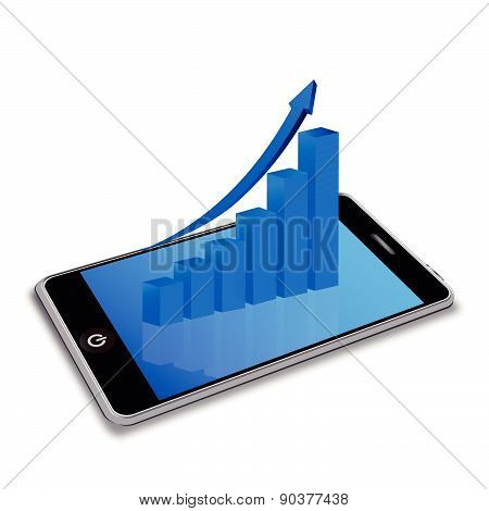 Smart phone with business graph