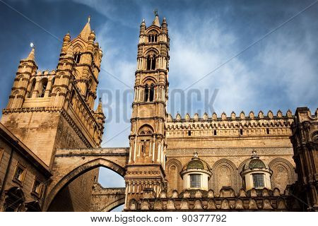 The Tips Of The Cathedral Of Palermo