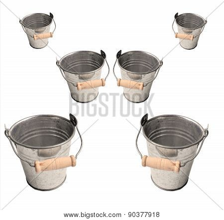 Bucket set,isolated on white background
