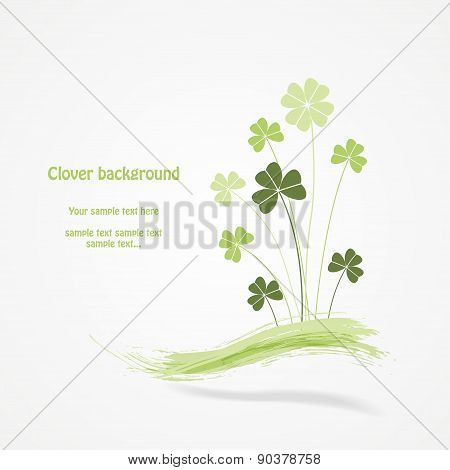 Abstract clover vector illustration