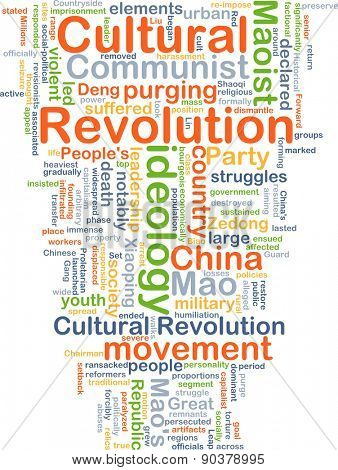 Background concept wordcloud illustration of Cultural Revolution