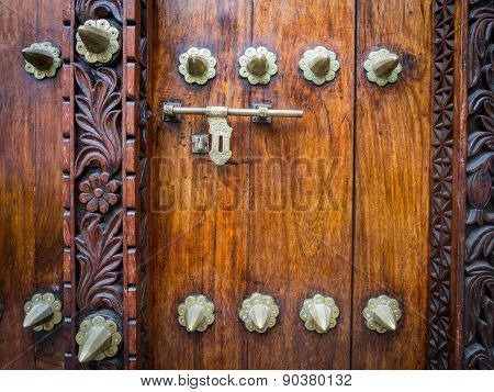 Traditional door in Stone Town, Tanzania