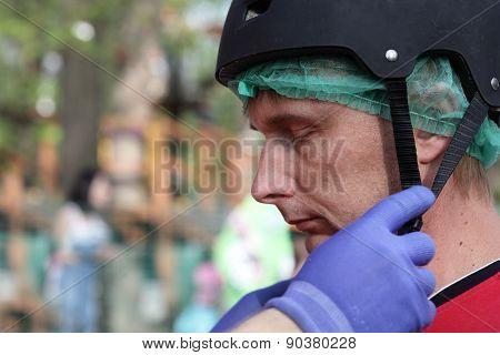 Man In Helmet