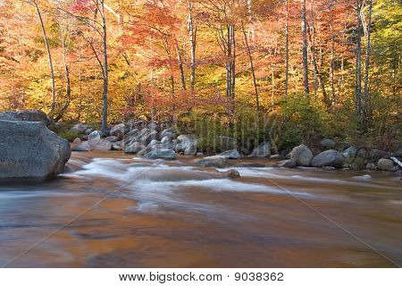River And Fall Foliage, New Hampshire (horizontal)