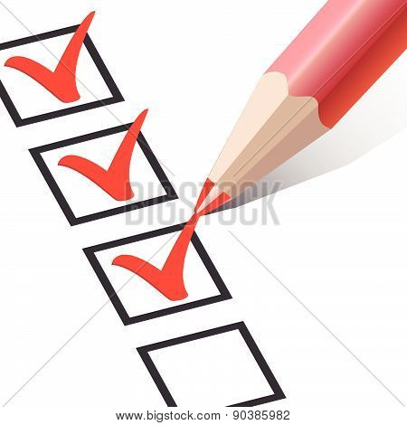 Checkbox with a red pencil
