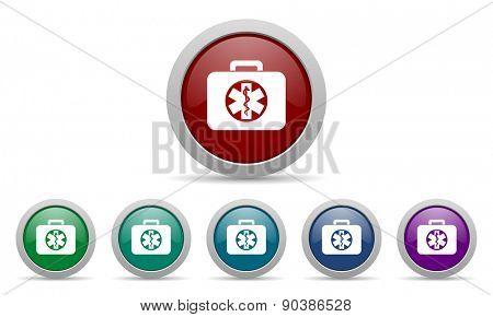 rescue kit icon emergency sign