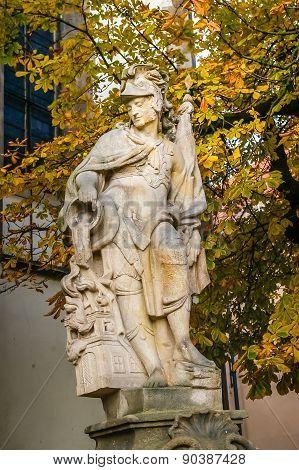 Sculpture In Tabor City, Czech Republic
