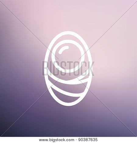 Human cell icon thin line for web and mobile, modern minimalistic flat design. Vector white icon on gradient mesh background.