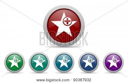 star icon add favourite sign
