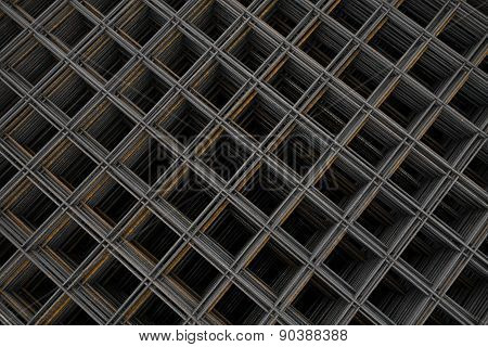 Steel wire fabric - rod mat - from above