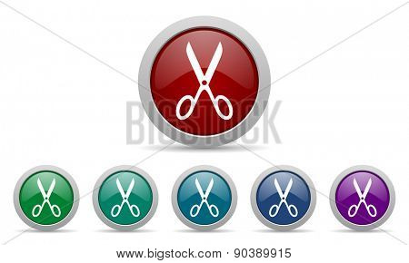 scissors icon cut sign