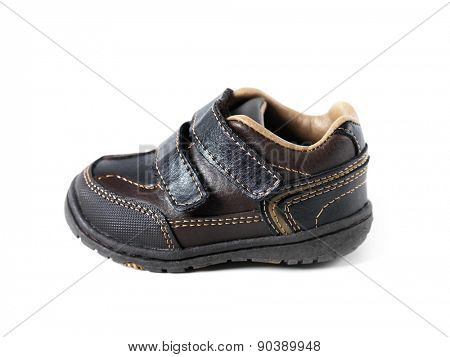 Baby shoe, childrens footwear isolated on white background