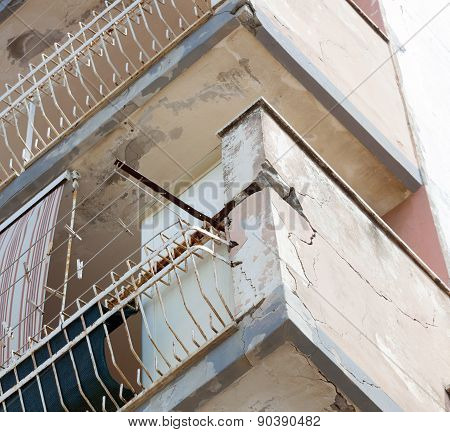 Balconies With Cracked Concrete Requiring Renovation