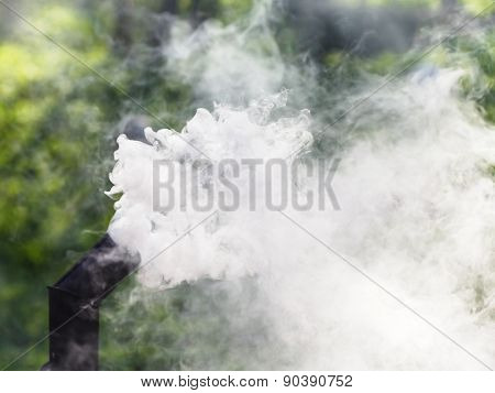 Gray Smoke From Oven Chimney