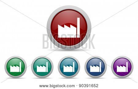 factory icon industry sign manufacture symbol