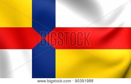 Flag Of Kapelle, Netherlands.