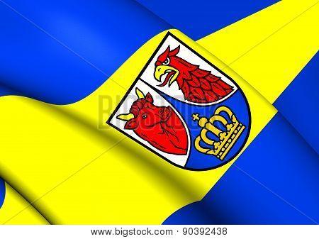 Flag Of Dahme-spreewald, Germany.