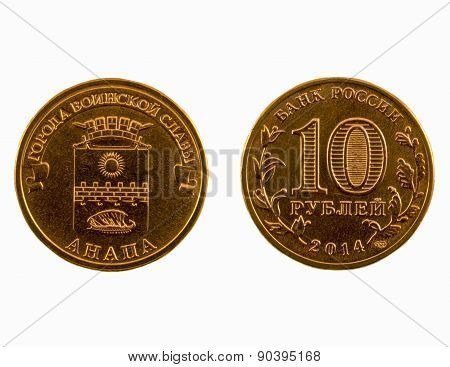 Coin 10 Rubles, Anapa