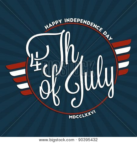 Fourth Of July Lettering