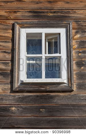 Window In An Old Wooden House