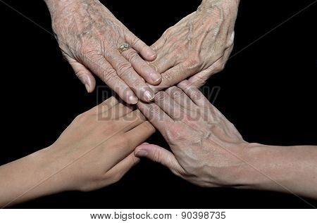 hands representing family generation