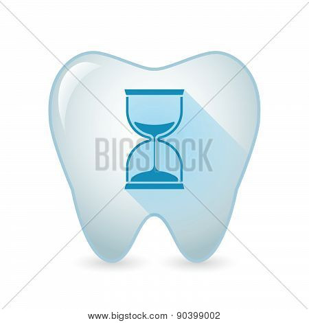 Tooth Icon With A Sand Clock