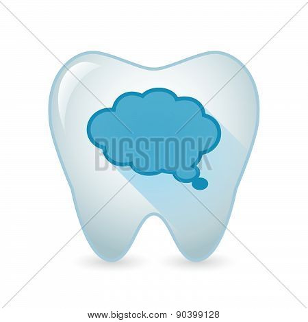 Tooth Icon With A Comic Balloon