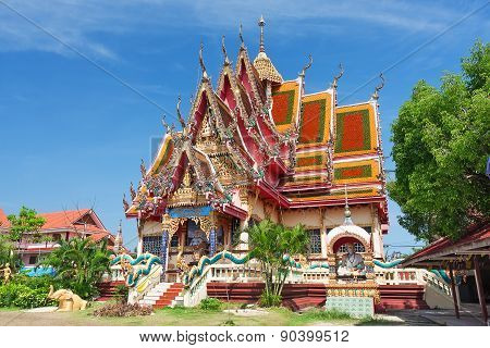 Temple Of Wat Plai Laem On The Samui Island