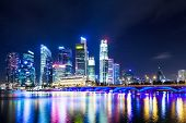 pic of singapore night  - Singapore at night - JPG