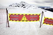 foto of avalanche  - Pass No - JPG
