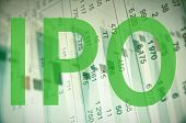 stock photo of initials  - Inscription IPO  - JPG
