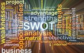 pic of swot analysis  - Background concept wordcloud illustration of strengths weakness opportunities threat SWOT glowing light - JPG