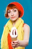 stock photo of french beret  - studio portrait - JPG