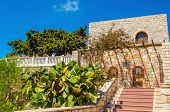 stock photo of greek  - Stairs leading to typical Greek house on one of the Greek Islands - JPG