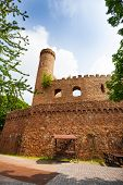 picture of fortified wall  - Auerbach castle walls and tower ruins in southern Hesse - JPG