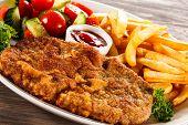 picture of pork chop  - Fried pork chop - JPG