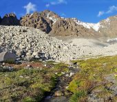 stock photo of shan  - Tien Shan mountains in Kazakhstan Central Asia - JPG