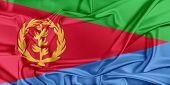 foto of eritrea  - Flag of Eritrea waving in the wind - JPG