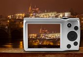 pic of megapixel  - Digital camera photographing Prague castle - JPG