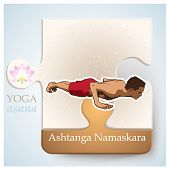foto of ashtanga vinyasa yoga  - Exercise of yoga practice yoga postures or yoga positions - JPG